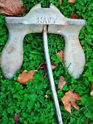 Antique Navy Anchor 25 Lb. Wilcox Crittenden Stockless Ship Boat Anchor 12 Wide