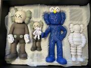 Kaws Family Figures - Brown/blue/white And Black - 2 Sets - In Hand - Ships Today