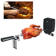 Outdoor Cooking Skewers Tool Grilling Picnic Camping Rotisserie Set With Motor