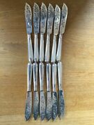 Set Of 12 Very Good Quality Antique Solid Silver Fish Knives London 1867 By Fran