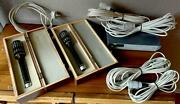 2 X Pm750 Neumann Gefell Full Set N691 Wooden Case Mint Condition New Capsules