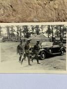 Ww2 Mercedes Benz Limousine Cabriolet With German Generals In The Camp