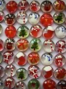 Christmas Hand Painted Glass Gems Party Favors Table Confetti