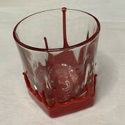 Makers Mark Red Wax Dipped Drip Kentucky Bourbon Whiskey Cocktail Rocks Glass