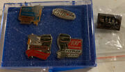 5 Evinrude Outboard Boat Motor Promo Button Pin 100th And 110th Anniversary Set
