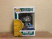 Coa Funko Pop Stan Lee 03 Signed Autograph Excelsior Approved Exclusive