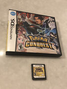 Pokemon Conquest Nintendo Ds Cartridge And Case Authentic Tested Clean 🔥🔥