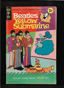 1968 Beatles Yellow Submarine W/ Poster Attached Original Gold Key Comic Book