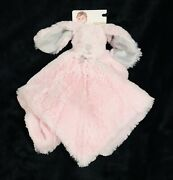 Blankets And Beyond Pink Bunny Rabbit Security Blanket Lovey Fluffy