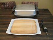 Vtg. West Bend Miracle Lektro Maid Electric Skillet Lid 13669 W Cutting Board
