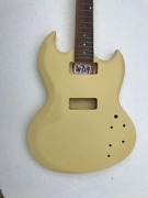 Cream Guitar Double Cutaway Body With Neck Fit Sg Guitars With P90 Pickups