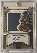 2012 Crown Royale Russell Wilson Rookie Patch Auto Beauty On Card 048/349