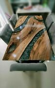 60''x32'' Epoxy Resin Center Coffee Resin Wooden Table Top Home Furniture Yx5