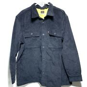 Corduroy Trucker Jacket Black Mens Size Xl New With Tags