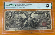 1896 5 Silver Certificate Educational Note Pmg 12 Edge Damage