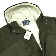 Faherty Sherpa Lined Field Parka Mens Size Xl Dark Olive Nwt 298