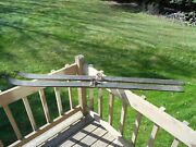 Antique Vintage Ca Lund Northland Skis Hickory 70 Pointed Tips Winter Snow