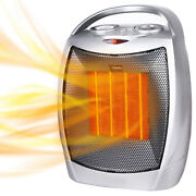 Portable Electric Space Heater 1500w/750w Personal Room Heater With Thermostat