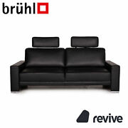Branduumlhl And Sippold Alba Leather Sofa Black Two Seater Couch