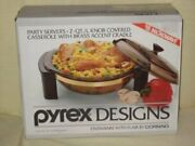 Vintage 1989 Pyrex Designs Ovenware With Flair By Corning - Party Servers 2 Q...