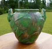 Weller Coppertone Vase With 2 Frogs