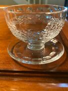 Waterford Crystal Cut Colleen Short Stem Footed Dessert Bowl 3 - 12 Available