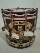 1950and039s/1960and039s British Royal Marines Parade Drum. Authentic And Original.