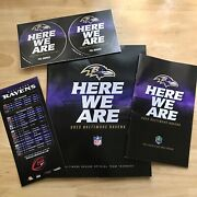2013 Baltimore Ravens Official Team Yearbook Fan Guide Schedule Magnet Stickers