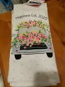 New Cynthia Rowley Set Of Two Kitchen Towels 18x28 Happiness Est. 2020