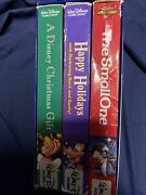 Disney Christmas Gift/small One/happy Holidays With Darkwing Duck And Goofy Vhs