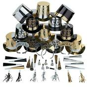 Happy New Year 50-pc Party Accessories Blowers W Hats And Tiaras Kit For 25-ppl