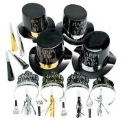 Happy New Year 100-pc Party Favors Noisemakers W Hats And Tiaras Kit For 50ppl