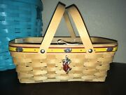 2007 Longaberger Jelly Belly Basket W/ Tie-on And Protector