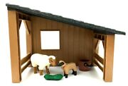 Playmobil Shed Lean-to Small Barn Shelter And Sheep And Bucket And Grass New Cl