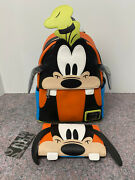 Loungefly Goofy Figural Mini Backpack And Wallet - Nwt