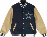 Mitchell And Ness Dallas Cowboys Authentic Throwback Varsity 2-tone Jacket