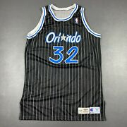 100 Authentic Shaquille O'neal Champion 95 96 Orlando Magic Game Jersey 54+4