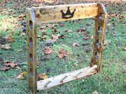 Rustic Wood Golf Club Display Rack For 4 Scotty Cameron Putters And Headcovers