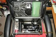 Vintage 1955 Singer 221-1 Featherweight Sewing Machine W/case And Attachments