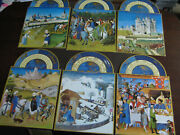 6 Unused Gallery Five Vintage Card Lot, Thick Cardstock, 12 Astrological Signs