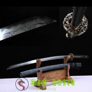 Japanese Samurai Sword Hand Forged Dragon Pattern Clay Tempered Folded Steel