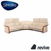Stressless Eldorado Leather Corner Sofa Cream Relaxfunktion Function Couch