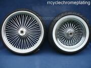 Dna Mammoth 52 Spoke Chrome Rim Wheels Package Tires Harley Softail Deluxe 08-21