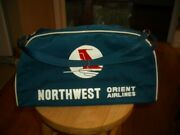 New Vintage Blue Northwest Orient Airline Small Carry On Bag 16 X 9 X 6