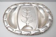 Antique Mexican Sterling Silver Tree Of Life Serving Platter Tray