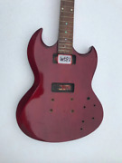 Red Guitar Double Cutaway Body With Neck And Rosewood Fretboard Fit Sg Guitars