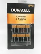 Duracell Coppertop 9v Alkaline Batteries 8 Count Dated 2026
