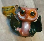 Vintage Russ Berrie Jiggler Bupkis Family Twiggy Rubber Figure 60and039s Owl With Tag