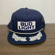 Bud Light Vintage Rope Hat Snapback Official Product Made In The Usa