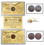 Lot Of 2 Admiral Gardner Shipwreck Coins 1808 X Cash East India Company